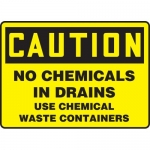 """Accuform MCHL691XF, OSHA Sign """"No Chemicals in Drains Use…"""""""