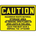 "Accuform MCHL697VA, OSHA Sign ""Hazardous Waste Material Storage…"""