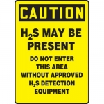 "Accuform MCHL706VA, OSHA Sign ""H2S May Be Present Do Not Enter…"""