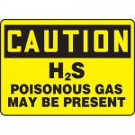 "Accuform MCHL707VA, OSHA Sign ""H2S Poisonous Gas May Be Present"""