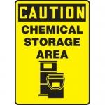 "Accuform MCHL712XL, OSHA Sign ""Caution Chemical Storage Area"""