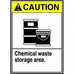 "Accuform MCHL713XL, ANSI Sign ""Caution Chemical Waste Storage Area"""