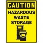"""Accuform MCHL717XL, OSHA Sign """"Caution Hazardous Waste Storage"""""""