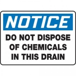 """Accuform MCHL803VA, OSHA Sign """"Do Not Dispose of Chemicals in…"""""""