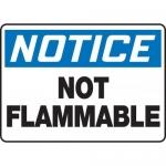 "Accuform MCHL804XV, Dura-Vinyl OSHA Sign ""Notice Not Flammable"""