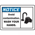 """Accuform MCHL811XP, OSHA Sign """"Avoid Contamination Wash Your Hands"""""""