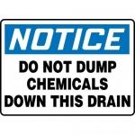 "Accuform MCHL828VA, OSHA Sign ""Do Not Dump Chemicals Down This Drain"""