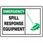 "Accuform MCHL905XV, OSHA Sign ""Spill Response Equipment"" & Symbol"