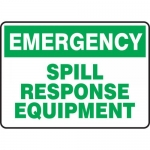 "Accuform MCHL907XV, OSHA Sign ""Emergency Spill Response Equipment"""
