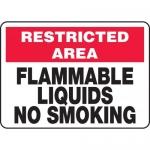 """Accuform MCHL911VA, Aluminum OSHA Sign """"Flammable Liquids No Smoking"""""""