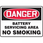 "Accuform MCHL928XL, OSHA Sign ""Battery Servicing Area No Smoking"""