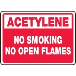 "Accuform MCHL930VA, Sign ""Acetylene No Smoking No Open Flames"""