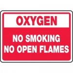 "Accuform MCHL935VA, Aluminum Sign ""Oxygen No Smoking No Open Flames"""