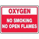 "Accuform MCHL936XV, OSHA Sign ""Oxygen No Smoking No Open Flames"""