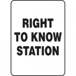 "Accuform MCHM520XP, Accu-Shield Sign ""Right to Know Station"""