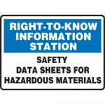 "Accuform MCHM526XT, Dura-Plastic Sign ""SDS for Hazardous Materials"""