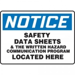 """Accuform MCHM804VS, Sign """"Safety Data Sheets & he Written Hazard…"""""""