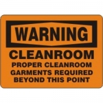 """Accuform MCLR506XP, Sign """"Cleanroom Proper Cleanroom Garments…"""""""