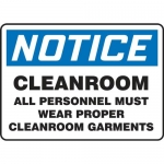 """Accuform MCLR802XL, Sign """"Cleanroom All Personnel Must Wear Proper.."""""""