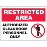 "Accuform MCLR900VA, Sign ""Authorized Cleanroom Personnel Only"""