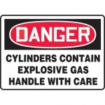 "Accuform MCPG002VA, Sign ""Cylinders Contain Explosive Gas Handle…"""