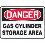 "Accuform MCPG003VA, OSHA Sign ""Danger Gas Cylinder Storage Area"""