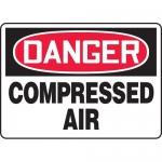 """Accuform MCPG004VA, Aluminum OSHA Sign """"Danger Compressed Air"""""""