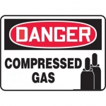 "Accuform MCPG008VA, Aluminum OSHA Sign with Legend ""Compressed Gas"""