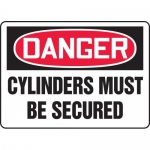 """Accuform MCPG106VA, OSHA Sign """"Danger Cylinders Must Be Secured"""""""