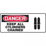 """Accuform MCPG015VA, OSHA Sign """"Danger Keep All Cylinders Chained"""""""