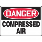 """Accuform MCPG018VA, Aluminum OSHA Sign """"Danger Compressed Air"""""""