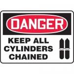 "Accuform MCPG027VA, Aluminum OSHA Sign ""Keep All Cylinders Chained"""