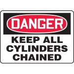"""Accuform MCPG028VA, OSHA Sign """"Danger Keep All Cylinders Chained"""""""