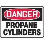 "Accuform MCPG102VA, Aluminum OSHA Sign ""Danger Propane Cylinders"""