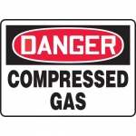 "Accuform MCPG104VA, Aluminum OSHA Sign ""Danger Compressed Gas"""