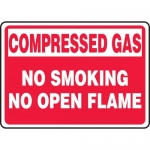 "Accuform MCPG501XL, Sign ""Compressed Gas No Smoking No Open Flame"""
