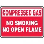 "Accuform MCPG501XV, Sign ""Compressed Gas No Smoking No Open Flame"""