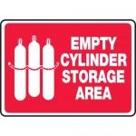 "Accuform MCPG510VS, Adhesive Vinyl Sign ""Empty Cylinder Storage Area"""
