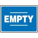 "Accuform MCPG527XL, 10″ x 14″ Aluma-Lite Sign with Legend: ""Empty"""