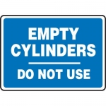 """Accuform MCPG585XF, Dura-Fiberglass Sign """"Empty Cylinders Do Not Use"""""""