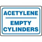 "Accuform MCPG531XF, Dura-Fiberglass Sign ""Acetylene Empty Cylinders"""