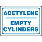 "Accuform MCPG562XF, Dura-Fiberglass Sign ""Acetylene Empty Cylinders"""