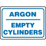 "Accuform MCPG564VA, Aluminum Sign with Legend ""Argon Empty Cylinders"""