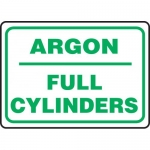 "Accuform MCPG534VA, Aluminum Sign with Legend ""Argon Full Cylinders"""