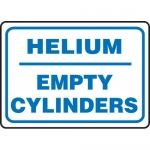 "Accuform MCPG537VA, Aluminum Sign with Legend ""Helium Empty Cylinders"""