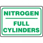 "Accuform MCPG571XF, Dura-Fiberglass Sign ""Nitrogen Full Cylinders"""