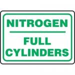 "Accuform MCPG540XF, Dura-Fiberglass Sign ""Nitrogen Full Cylinders"""