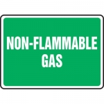 "Accuform MCPG545VA, Aluminum Sign with Legend ""Non-Flammable Gas"""