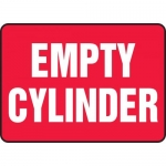 """Accuform MCPG595XF, Dura-Fiberglass Sign """"Empty Cylinder"""", Red"""