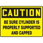 """Accuform MCPG607VA, Sign """"Be Sure Cylinder is Properly Supported…"""""""